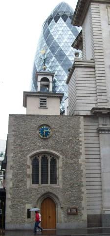 St Ethelburga & The Gherkin