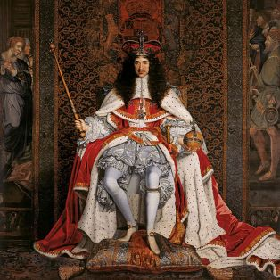 w Charles II in coronation robes by Wright 1661 (RC)
