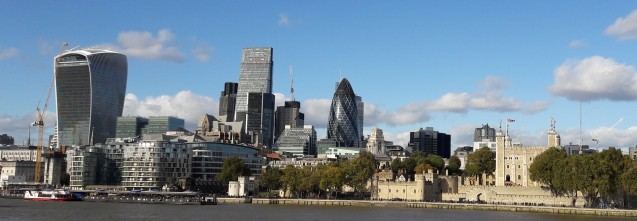 City of London from river